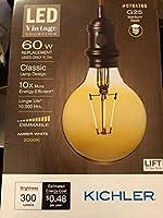 Kichler Lightingビンテージ60W相当調光機能付きオレンジヴィンテージLED装飾電球