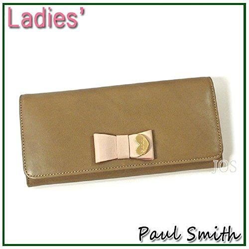 ポールスミス Paul Smith 財布 メンズ レディース コントラストリボン かぶせ長財布 ブラウン PWW784 長財布 レディース