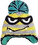 (グリンバディ) GRINBUDDY 耳あて付 kids ニット帽 フリース素材の裏地付き あったか チクチクしない プレゼントにもぴったり (ライトグレー)