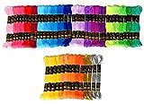 刺繍糸 54色 8m セット クロスステッチ カラーが豊富できれい! 刺しゅう糸,刺しゅう糸 刺繍系 ミサンガ