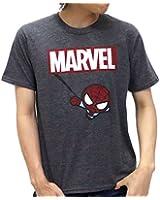 (マーベル) MARVEL Tシャツ メンズ ブランド 半袖 おしゃれ ロゴ スパイダーマン 4color