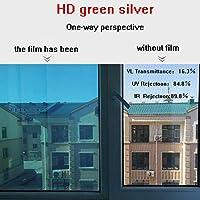 HANSHAN 窓フィルム 窓用フィルム、プライバシー片方向防爆フィルムガラスステッカーサンルーム紫外線保護フィルム日焼け止めホームウィンドウステッカー3個 (Color : B, Size : 39inch × 3feet)