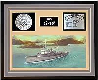 """海軍Emporium USS Chilula ATF 153Framed Navy Ship表示 20""""W x 16""""H グレー 103742000004"""