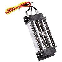 DC12V 200W PTC発熱体ヒーター 半導体エアヒーター 電気絶縁 セラミックス サーモスタット ハイパワー コンテナ電気 ヒーター加熱 ステンレス鋼 取り外し可能 安全 取り付け簡単