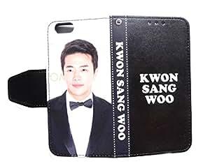 ■クォン・サンウ(Kwon Sang Woo)『A-Type』!人気の韓流スター!iPhone6/アイフォン6/カバー ケース!韓国ドラマでお馴染みそのまま話せる汚れない折りたたみカバー!docomo/softbank/au