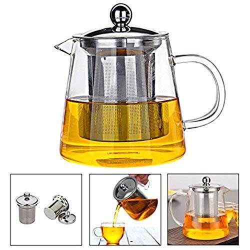 ティーポット 耐熱ガラス 450ML 急須 ガラスティーポット 茶こし ガラス  紅茶ポット かわいい 形状 デザイン