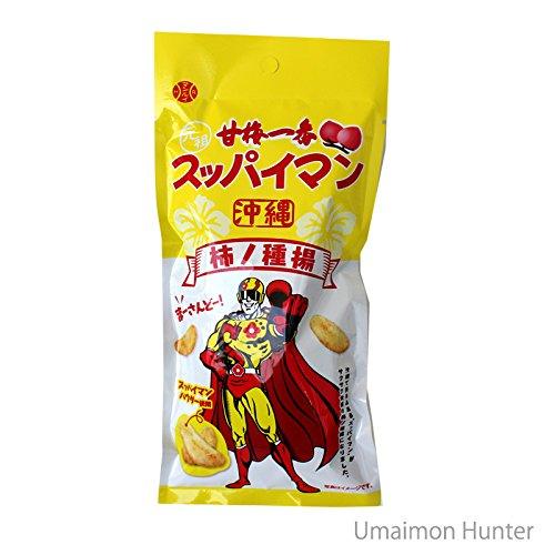 スッパイマン 柿の種揚 40g×3P 南西産業 沖縄で馴染みある スッパイマン がサクサク食感の柿の種揚になりました スッパイマンパウダー使用 やみつきになる甘酸っぱい味わい お酒のあてやおやつに♪
