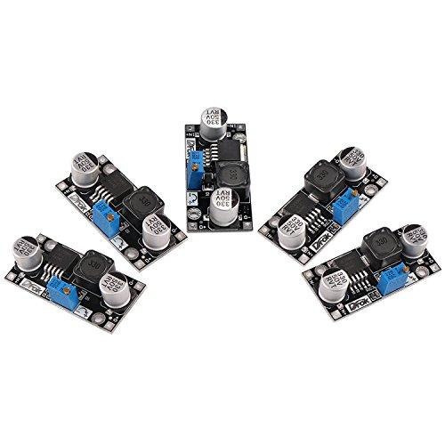 5個のDC昇降圧可変電圧レギュレータ36V〜24V 12V 5V 3.3V 3Vバックコンバータ電子ボルト安定なカーバッテリ調整可能な電源DIY電圧トランスモジュール