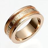 ReiZ 二人の愛を永遠に育むシルバーリング|指輪(ピンクゴールドコート) #15号