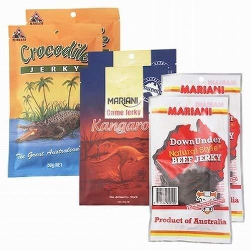オーストラリア ご当地ジャーキー 3種 6袋セット(ビーフ、カンガルー、クロコダイル) 【オーストラリア 海外土産 輸入食品 グルメ】