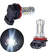 KaTur 2個80W H8 16 LED車の霧ライトランプ電球CREE XBD LED光源900-1000Lm
