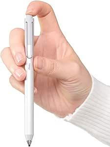 iPensタッチペンスタイラスペンiPadiPhoneスマートフォンタブレット対応 4分後自動OFF USB充電極細シルバー