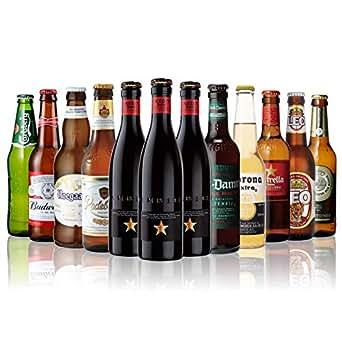 訳あり 2019/8/21の日付1本入りの為 世界のビール12本飲み比べギフトセット スペイン産高級ビール入!スペイン ドイツ ベルギーなどビール本場より大集結!全種類の商品詳細がわかるビールリスト付 (12弾)