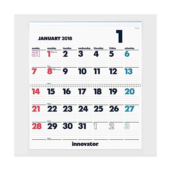 イノベーター 2018年 カレンダー 壁掛け ...の紹介画像2