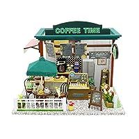 AI-YUN おもちゃモデル ドールハウス Lサイズ コーヒー タイムハウス ロマンチックな愛を伝える 他の人への最高のギフト 魅力的な装飾品