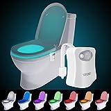 トイレ 人感 センサー ライト 便座 LED ランプ 8色変換 節電 便器 玄関 お手洗い 照明用 常夜灯