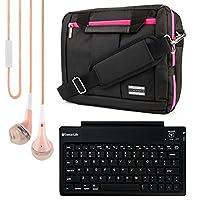 El Pradoコレクション3in 1バックパックandメッセンジャーバッグfor Vulcan Venture 11.6インチノートブック+ Bluetoothキーボード+ヘッドフォン(ピンク)