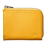 GRAMAS German Shrunken-calf L Shaped Zipper mini Wallet (Yellow)