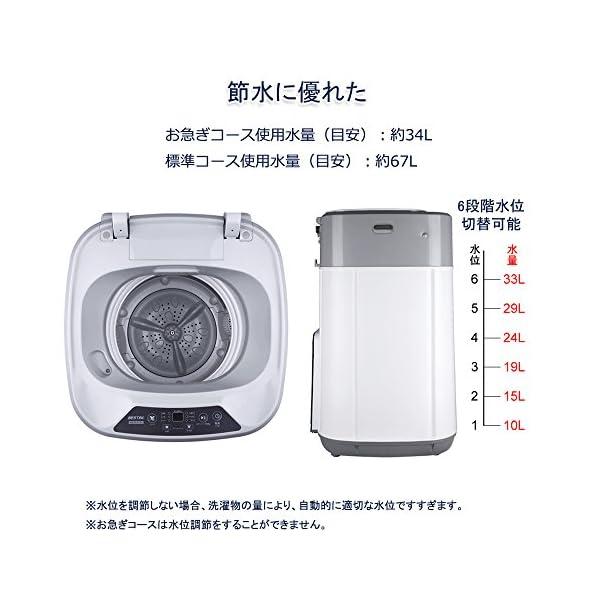 BESTEK 全自動洗濯機 小型 ミニ縦型 洗...の紹介画像3