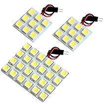 【断トツ126発!!】 GD系 インプレッサ LED ルームランプ 3点セット [H12.8~H19.6] スバル 基板タイプ 圧倒的な発光数 3chip SMD LED 仕様 室内灯 カー用品 HJO