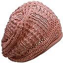 (ディグズハット)DIGZHAT サマーコットンデザイン編みニット帽 薄手 メンズ レディース ニットキャップ 帽子 (コーラルピンク)