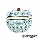 [Zakłady Ceramiczne Boleslawiec/ザクワディ ボレスワヴィエツ陶器]リンゴのポット12.5cm-966 (ポーリッシュポタリー)