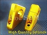 D-2-9 アルミ製 ハンドル セットバックKit 金 CB250T CB250N CB400T CB400N ホーク バブ ばぶ用