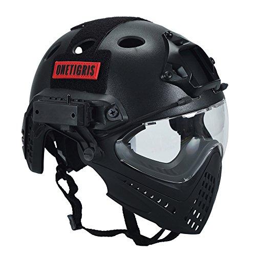 OneTigris『エアソフトヘルメットオリジナルマスク&ゴーグル付属一体型』