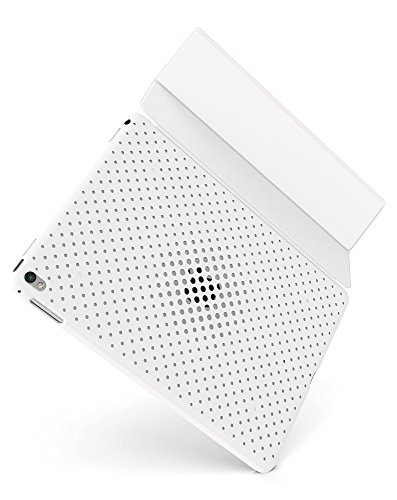 AndMesh 9.7インチ iPad Pro ケース 純正スマートカバー対応背面メッシュケース | iPadPro オシャレ カバー ホワイト 白 AMMSD701-WHT