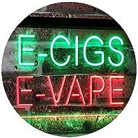 E-Cigs E-Vape Indoor Display Shop Dual LED看板 ネオンプレート サイン 標識 Green & Red 300 x 210 mm st6s32-i2073-gr