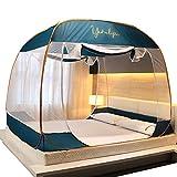 ダブルベッド蚊帳テント折りたたみ式フルアンダーカバー、寝室屋外キャンプテント、高暗号化ベッドカバーホームベッドルーム屋外