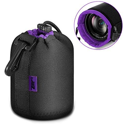 Zenicソフト一眼レフ カメラレンズケース レンズポーチ カメラ小物ポーチ フランネル フック付4...
