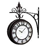 スパイス 両面時計 オールドストリート ボスサイド クロック L ブラウン NHE801LBR