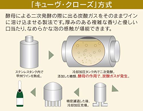 キッコーマン マンズワイン 甲州 酵母の泡 瓶720ml