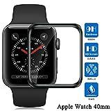 Apple Watch 40mm フィルム 3D全面保護 Apple Watch Series 4 フィルム 硬度9H 気泡レス 高透過率 アップルウォッチ 4 保護 フィルム Apple Watch Series 4 40mm ガラスフィルム