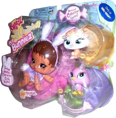 Bratz (  즈 ) Lil Angels Bunniez Yasmine with Canary and Sheep 돌 인형 피규어(병행수입)-