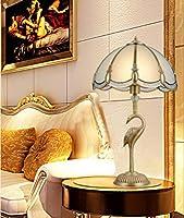 ヴィンテージヨーロピアンスタイルの銅のデスクランプ、シンプルなアメリカのリビングルームベッドルームの研究枕元のランプ、結婚式の中国のレトロなテーブルライト銅ランプ