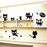 Meily 賃貸部屋OK! ねこちゃんウォールステッカー 壁面 シール 猫