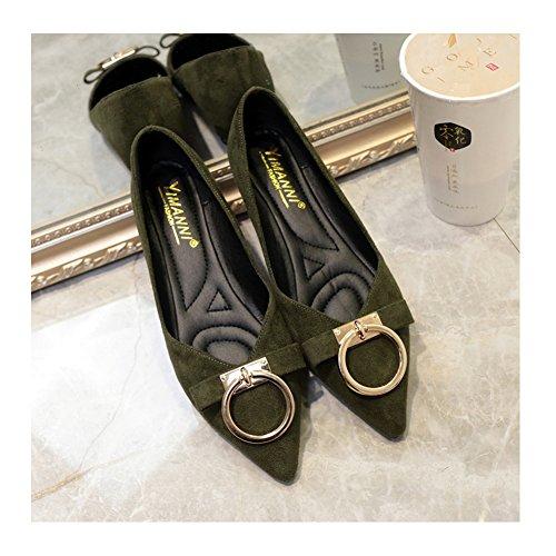 ポインテッドトゥ パンプス 痛くない 黒 スエード 歩きやすい レディース ポインテッド バレエシューズ ローヒール パンプス オフィス 通勤 女の子 22.5-24.5cm 走れるパンプス シューズ 靴 くつ 美脚