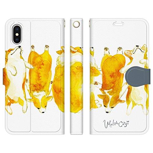 iPhoneXS iPhoneX 手帳型 ケース カバー コーギー NoA 犬 dog アニマル ウ...