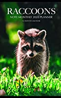 Raccoons Note Monthly 2020 Planner 12 Month Calendar