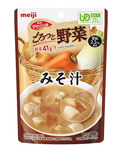 明治 やわらか食 ごろっと野菜 【区分1】 みそ汁 100g×12袋
