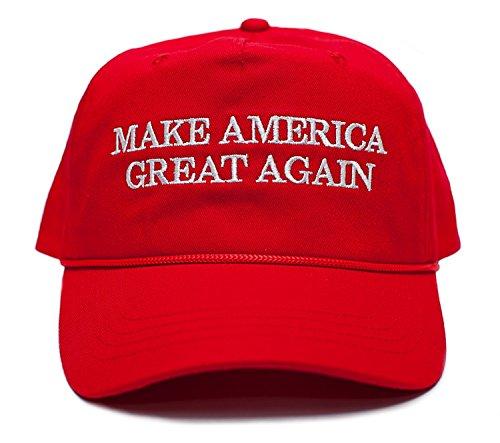 アメリカを再びGreat刺繍ドナルド・トランプ2016布& Braid Hat ( Maga _レッド)