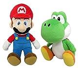マリオ&ヨッシー(S) ぬいぐるみ 2種セット 【座高約18cm】 スーパーマリオ ALL STAR COLLECTION
