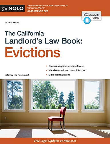 Download The California Landlord's Law Book: Evictions 1413326196