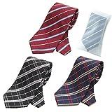 グリニッジ ポロ クラブ 洗えるネクタイ 3本セット 洗濯ネット1個付き 撥水加工 チェック (pr)