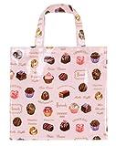 英国 Harrods(ハロッズ) チョコレートがいっぱい トートバッグ Sサイズ Pink Vintage Chocolates [並行輸入品]