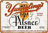 なまけ者雑貨屋 Yuengling's Pilsner Beer アンティーク風 デザインボード ブリキ看板 メタル (30×40cm)