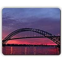 マウスパッド、日没バヨンヌ橋、アメリカワイルド川ニュージャージー、ゲームオフィスマウスパッド