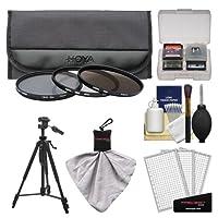Hoya 72mm 3ピースデジタルフィルタセット(HMC UV紫外線、Circular Polarizer & nd8ニュートラル密度) withケース+三脚キットfor Canon、Nikon、Sony、Olympus & Pentaxレンズ